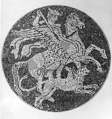Mosaic floor depicting Bellerephon -