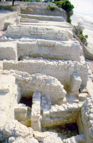 Proasteion seashore district - In the Proasteion (suburb), which is mentioned by Thucydides, and which occupies the seashore district of the ancient city, amongst other things, successive parts of dwellings and streets dating from the 9th to the 4th c. BC came to light.