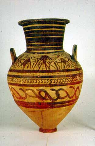 Geometric decoration - Proasteio cemetery - The vases were chiefly painted, with foliate and geometric decoration