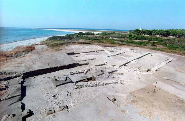 Sandy headland of Poseidi - The sanctuary of the ancient city was finally located on the flat, sandy headland of Poseidi, 4 km west of Mende.