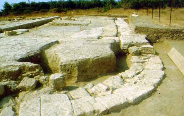 A double apsidal building - A double apsidal building was also discovered, built in the 2nd quarter of the 6th c. and repaired at the end of the 3rd c. BC