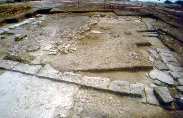Rectangular ancillary structure - A rectangular ancillary structure from the end of the 6th c. BC