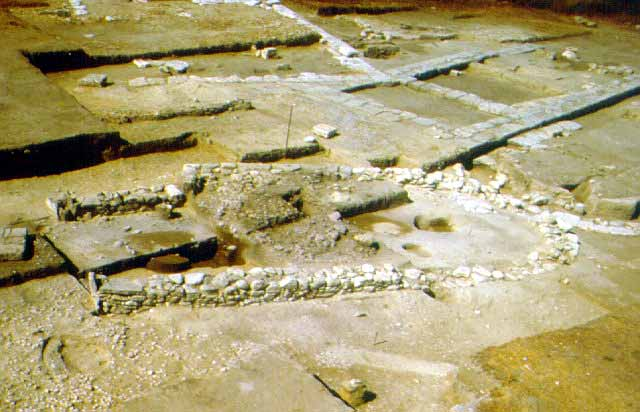 Protogeometric apsidal building - A 10th c. BC Protogeometric apsidal building
